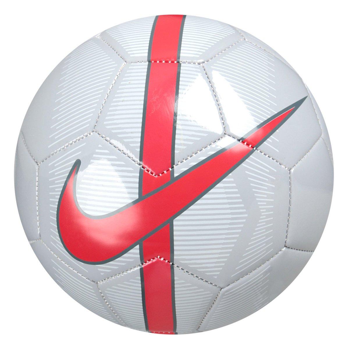 Bola Futebol Campo Nike Mercurial Fade - Cinza e Vermelho - Compre ... 97c3c8fe3d311