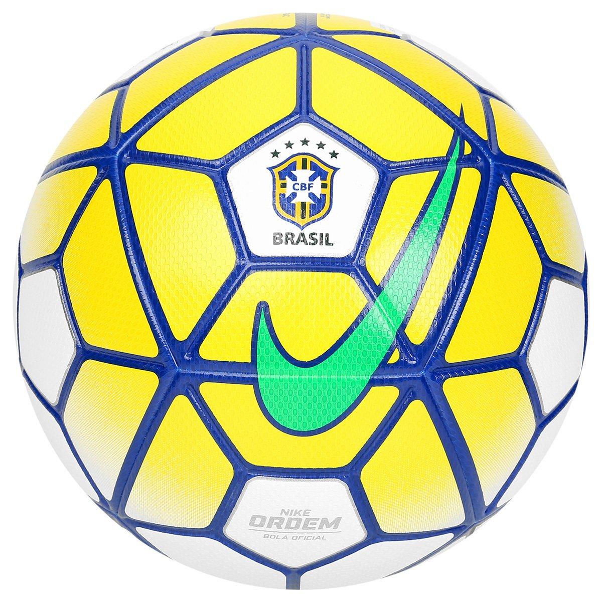 5a3607ce7aa33 Bola Futebol Campo Nike Ordem 3 CBF - Branco e Azul