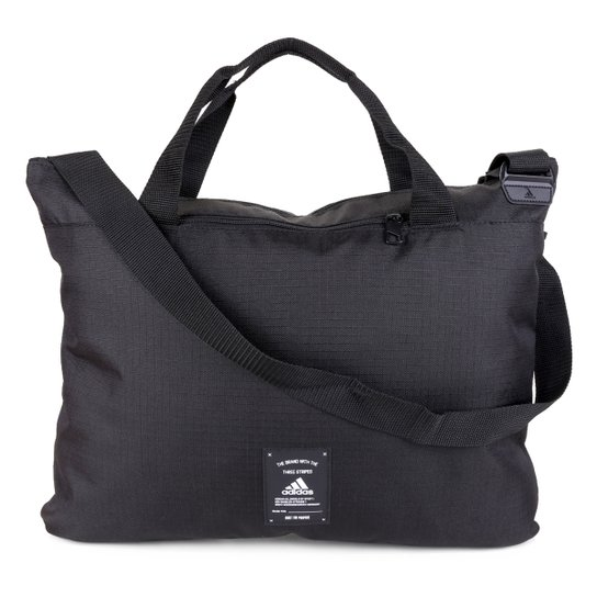Bolsa Adidas Tote Brillant Basic Essentials 3 Stripes - Preto+Branco