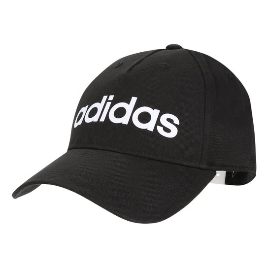 Boné Adidas Aba Curva Daily Masculino - Preto+Gelo
