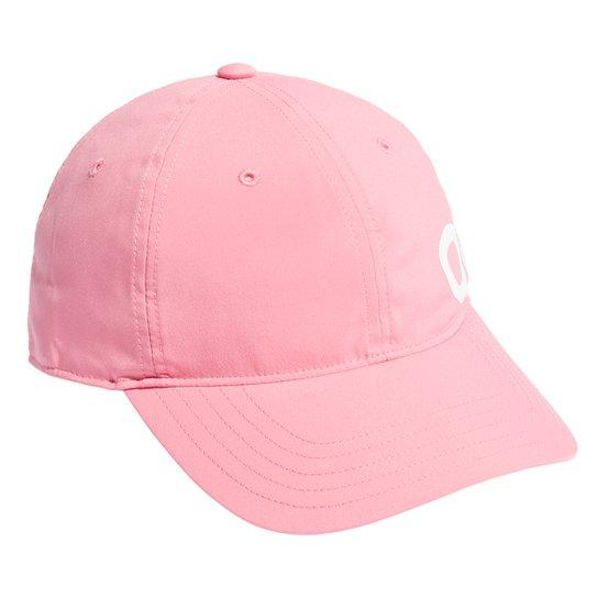 Boné Adidas Aba Curva Snapback Logo Linear - Pink+Branco