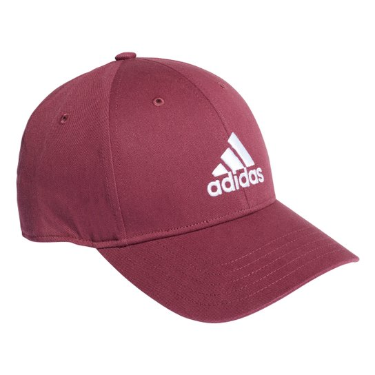 Boné Adidas Aba Curva Strapback Baseball Logo - Vinho+Branco