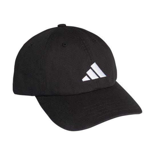 Boné Adidas Aba Curva Strapback Logo - Preto