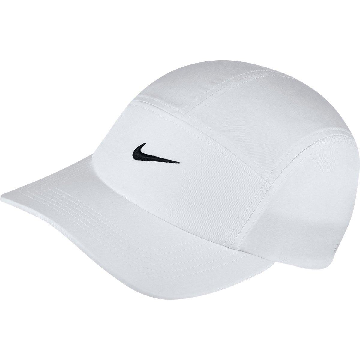 Boné Nike Aba Curva Aw84 Core - Branco e Preto - Compre Agora  9dd635d2c98d6