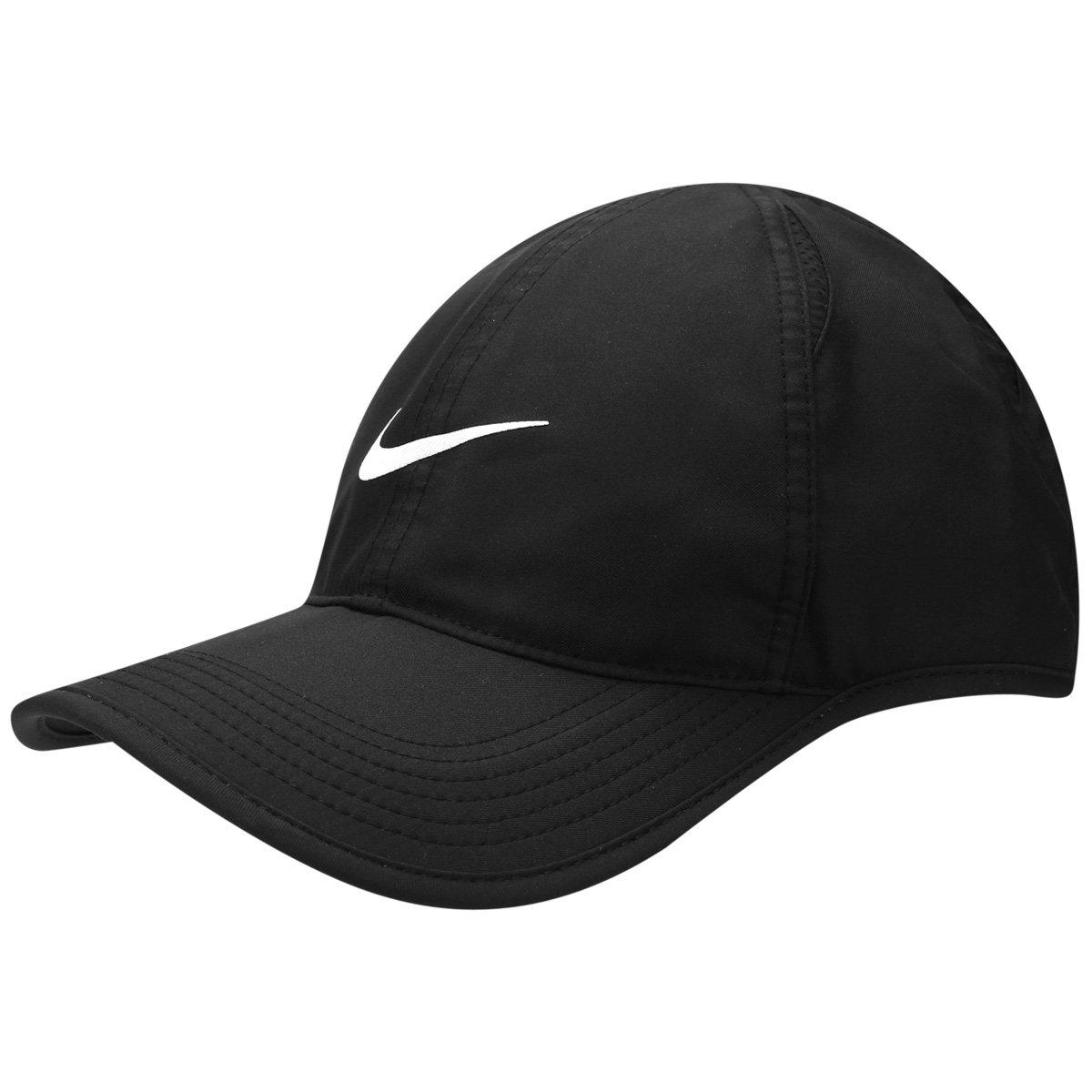 Boné Nike Aba Curva Featherlight - Preto - Compre Agora  a503b81a81a70