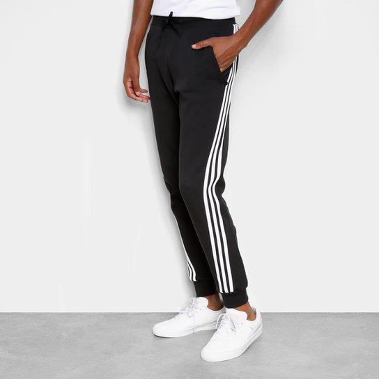Calça Adidas 3 Listras Masculina - Preto