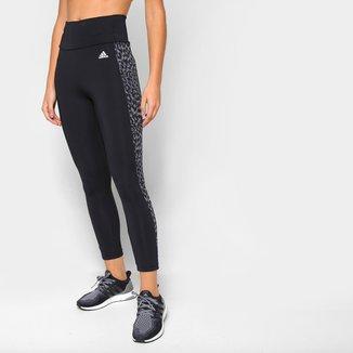 Calça Adidas 7/8 Leopardo Designed To Move Aeroready Feminina