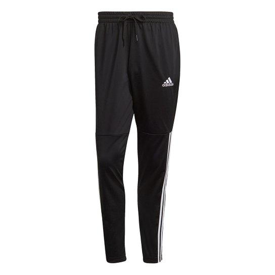 Calça Adidas Essentials 3 Stripes Masculina - Preto+Off White