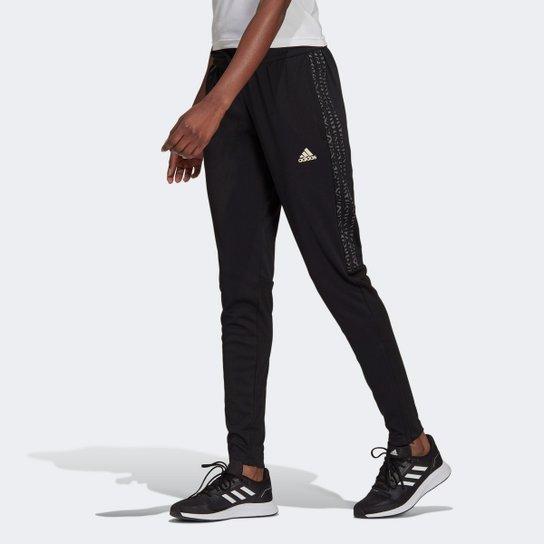 Calça Adidas Sereno 3 Listras Feminina - Preto+Cinza