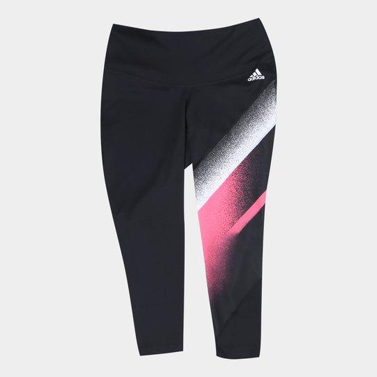 Calça Adidas Unleash Confidence Fellbrilliant 7/8 Plus Size Feminina - Preto+Branco