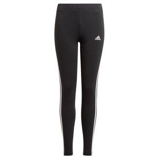 Calça Legging Infantil Adidas Essentials 3 Stripes Feminina