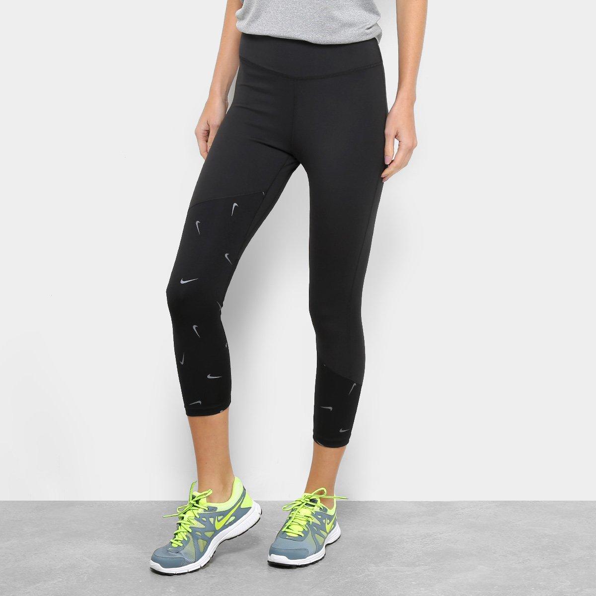 ec03183050de3 Calça Legging Nike One Crop Printed Feminina - Preto | Loja do Inter