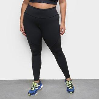 Calça Legging Plus Size Adidas Believe This 3H Mesh 7/8 Feminina