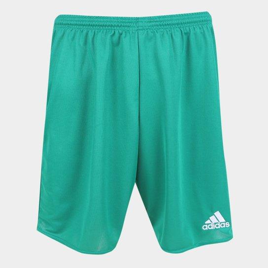 Calção Adidas Parma 16 Masculino - Verde+Branco