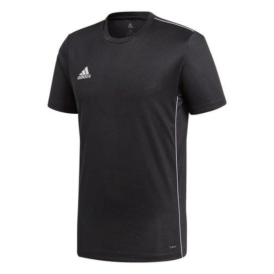 Camisa Adidas Core 18 Masculina - Preto+Branco