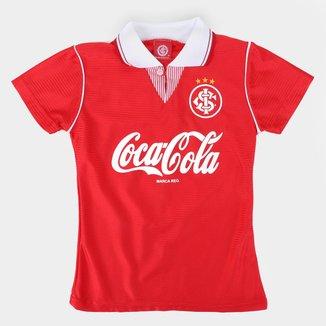 Camisa Baby Look Internacional Retrô Coca Cola Feminina