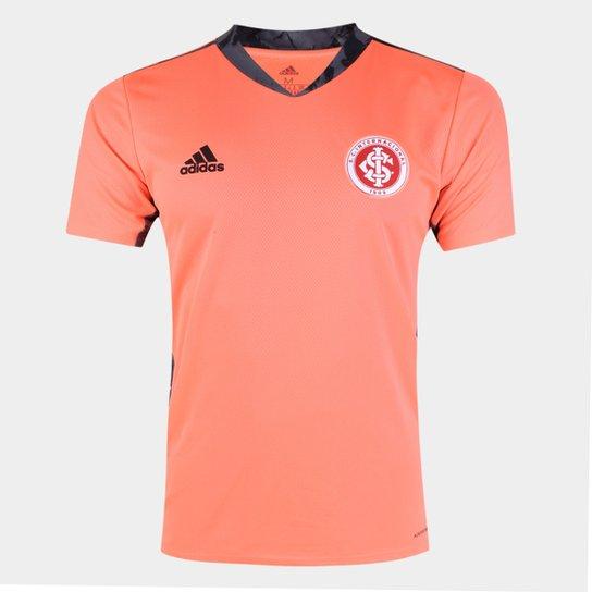 Camisa de Goleiro Internacional II 20/21 s/n° Torcedor Adidas Masculina - Laranja+Preto