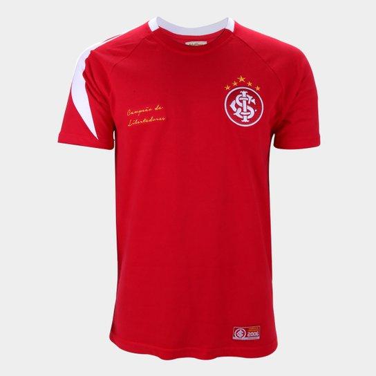 Camisa Internacional 2006 Libertadores Retrô Mania Masculina - Vermelho