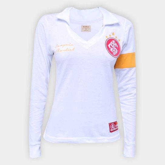 Camisa Internacional 2006 Mundial de Clubes Retrô Mania Feminina - Branco