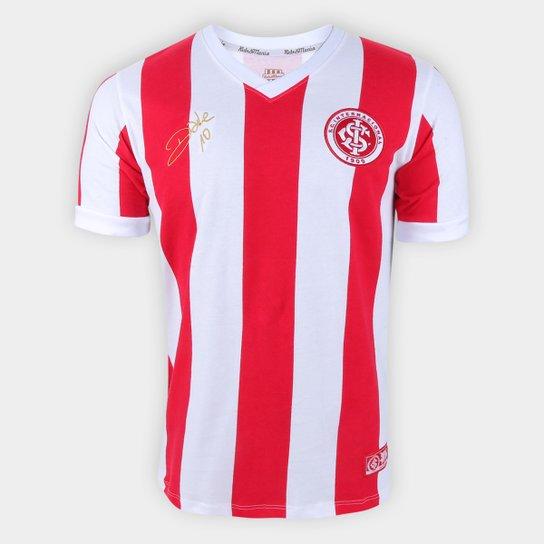 Camisa Internacional D'Alessandro 2013 RetrôMania Masculina - Vermelho+Branco
