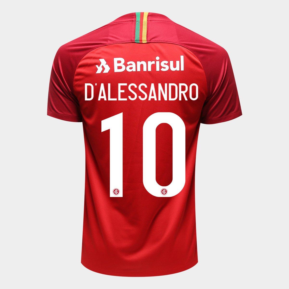 dbcf48020 Camisa Internacional I 18 19 N° 10 D Alessandro - Torcedor Nike Masculina -  Compre Agora