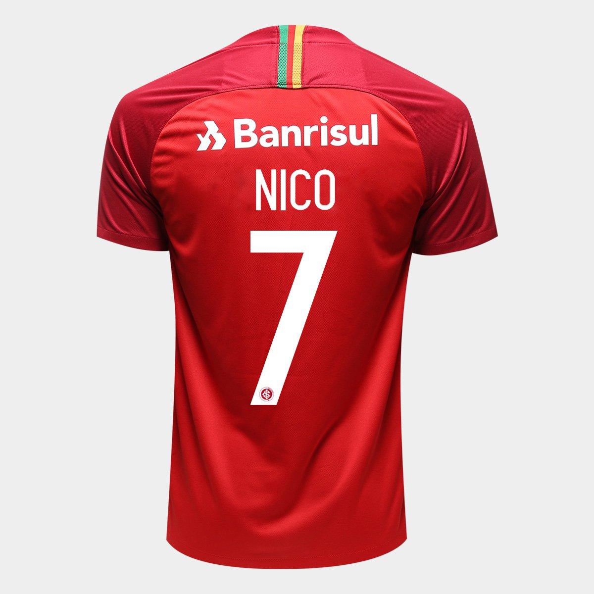 Camisa Internacional I 18 19 N° 7 Nico López - Torcedor Nike Masculina -  Vermelho e Branco - Compre Agora  4443302044b50