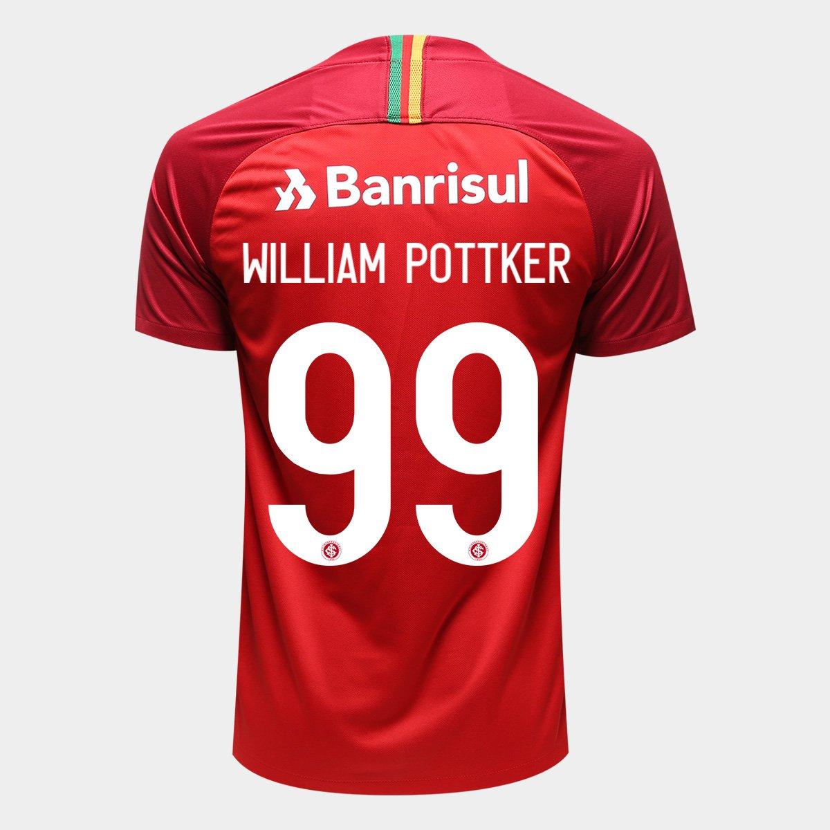 a49d1b621bc4b Camisa Internacional I 18 19 N° 99 William Pottker - Torcedor Nike Masculina  - Compre Agora