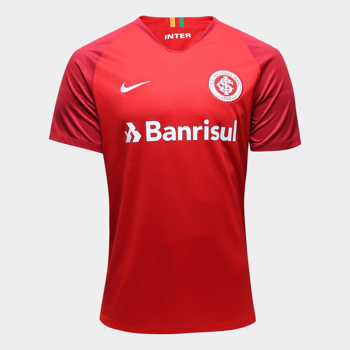 Camisa Internacional I 18 19 s nº Torcedor Nike Masculina C  Patrocínio ... 509aafa871423