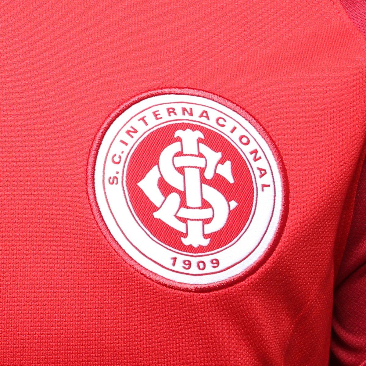 Camisa Internacional I 18 19 Torcedor Nike Masculina - Vermelho e ... 8dd2bd484ed92