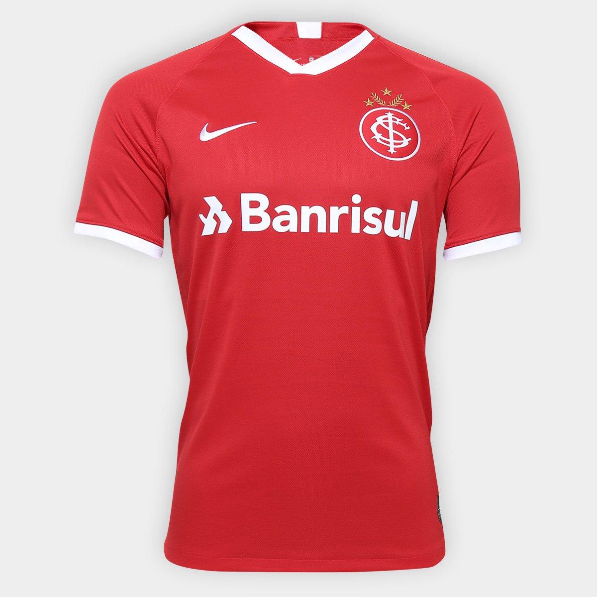 3409508967 Camisa Internacional I 19 20 s nº Torcedor Nike Masculina - Vermelho e  Branco - Compre Agora