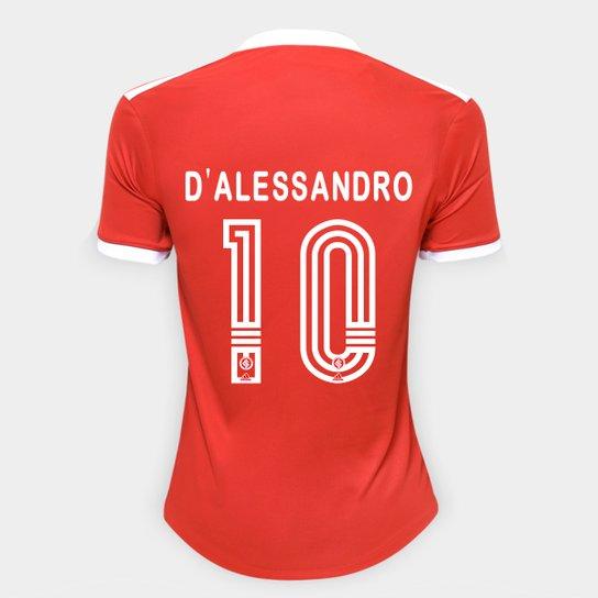 Camisa Internacional I 20/21 Nº 10 D'Alessandro Torcedor Adidas Feminina - Vermelho