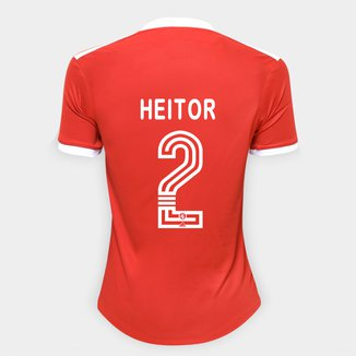 Camisa Internacional I 20/21 Nº 2 Heitor Torcedor Adidas Feminina
