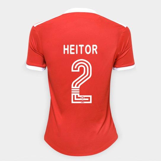 Camisa Internacional I 20/21 Nº 2 Heitor Torcedor Adidas Feminina - Vermelho