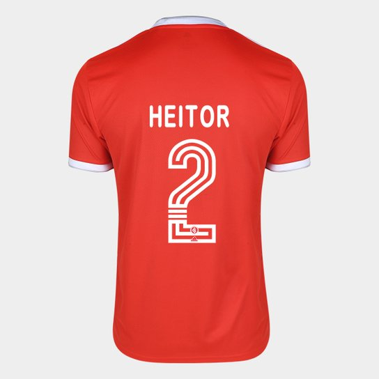 Camisa Internacional I 20/21 Nº 2 Heitor Torcedor Adidas Masculina - Vermelho