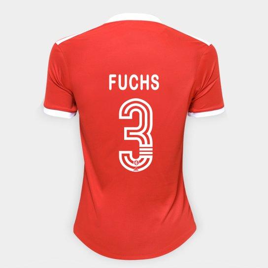 Camisa Internacional I 20/21 Nº 3 Fuchs Torcedor Adidas Feminina - Vermelho