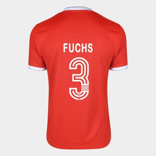 Camisa Internacional I 20/21 Nº 3 Fuchs Torcedor Adidas Masculina - Vermelho
