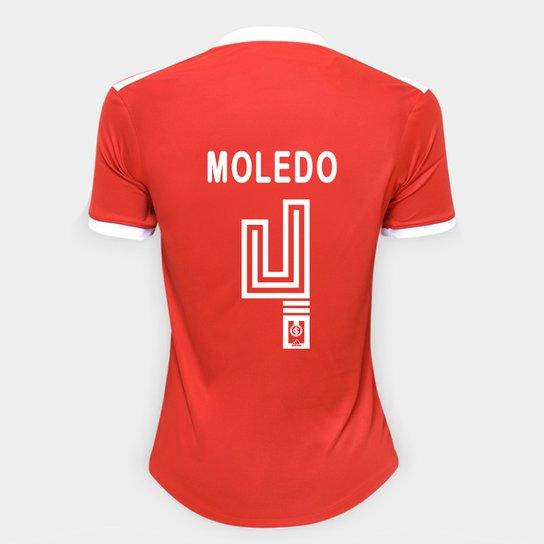 Camisa Internacional I 20/21 Nº 4 Moledo Torcedor Adidas Feminina - Vermelho