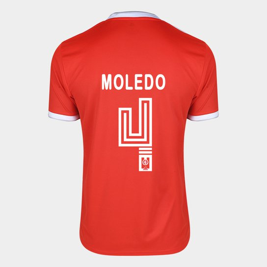 Camisa Internacional I 20/21 Nº 4 Moledo Torcedor Adidas Masculina - Vermelho
