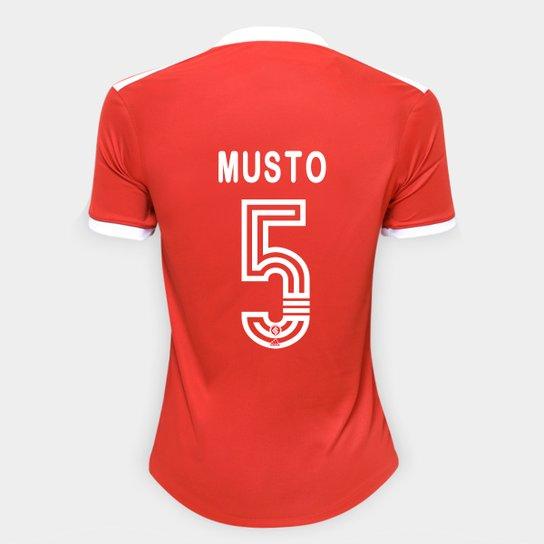Camisa Internacional I 20/21 Nº 5 Musto Torcedor Adidas Feminina - Vermelho