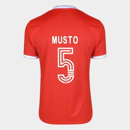 Camisa Internacional I 20/21 Nº 5 Musto Torcedor Adidas Masculina