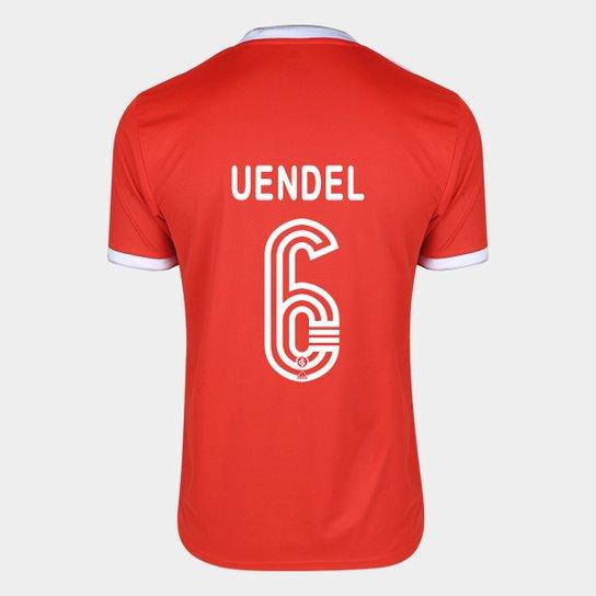 Camisa Internacional I 20/21 Nº 6 Uendel Torcedor Adidas Masculina - Vermelho