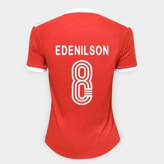 Camisa Internacional I 20/21 Nº 8 Edenilson Torcedor Adidas Feminina