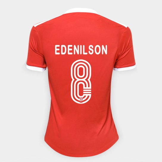 Camisa Internacional I 20/21 Nº 8 Edenilson Torcedor Adidas Feminina - Vermelho