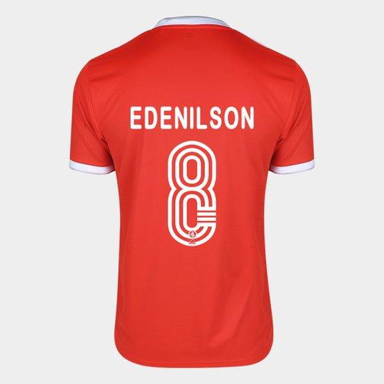 Camisa Internacional I 20/21 Nº 8 Edenilson Torcedor Adidas Masculina - Vermelho