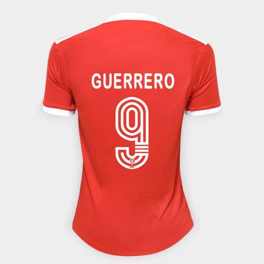 Camisa Internacional I 20/21 Nº 9 Guerrero Torcedor Adidas Feminina - Vermelho