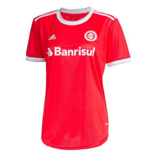 Camisa Internacional I 20/21 s/nº Torcedor Adidas Feminina - Vermelho