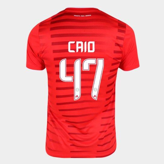 Camisa Internacional I 21/22 Caio Nº47 Torcedor Adidas Masculina - Vermelho