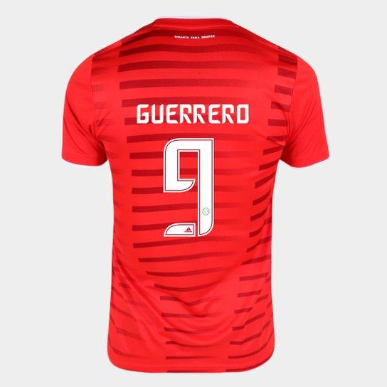 Camisa Internacional I 21/22 Guerrero Nº 9 Torcedor Adidas Masculina - Vermelho