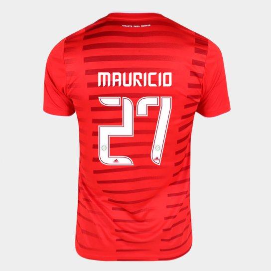 Camisa Internacional I 21/22 Mauricio Nº27 Torcedor Adidas Masculina - Vermelho