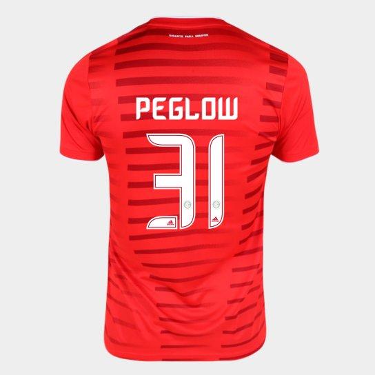 Camisa Internacional I 21/22 Peglow Nº31 Torcedor Adidas Masculina - Vermelho
